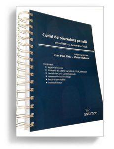 Codul de procedura penala, noiembrie 2016 - Editura Solomon