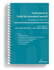 Codul penal si Codul de procedura penala actualizate la 1 iulie 2017 - Editura Solomon