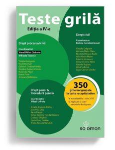 Teste grila - Drept procesual civil, drept civil - Editura Solomon