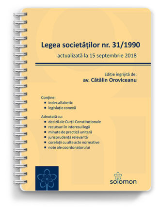 legea societatilor actualizat 15 septembrie - editura solomon