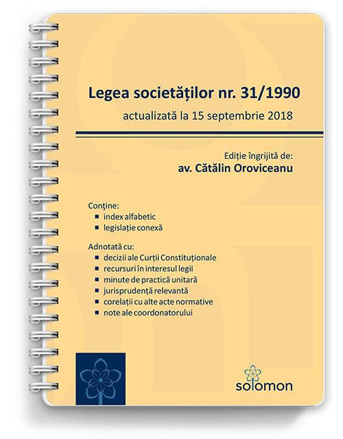 legea societatilor actualizat 15 septembrie - editura solomon