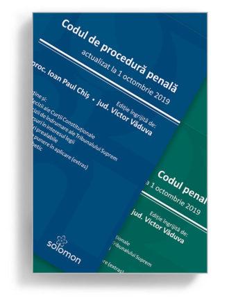 pachet cod penal cod de procedura penala 1 octombrie 2019 - editura solomon
