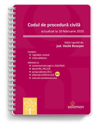 codul de procedura civila actualizat la 10 februarie 2020 - editura solomon