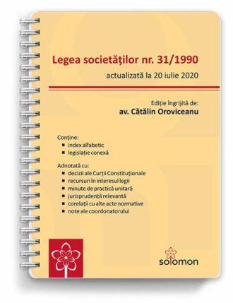 Legea societăților nr. 31/1990 (actualizată la 20 iulie 2020)