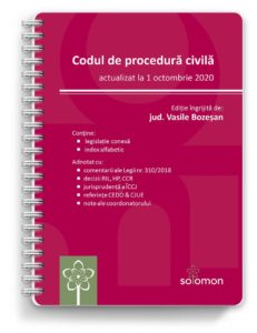 codul de procedura civila octombrie 2020 - editura solomon