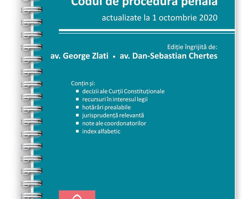 Codul penal și Codul de procedură penală – actualizate la 1 octombrie 2020